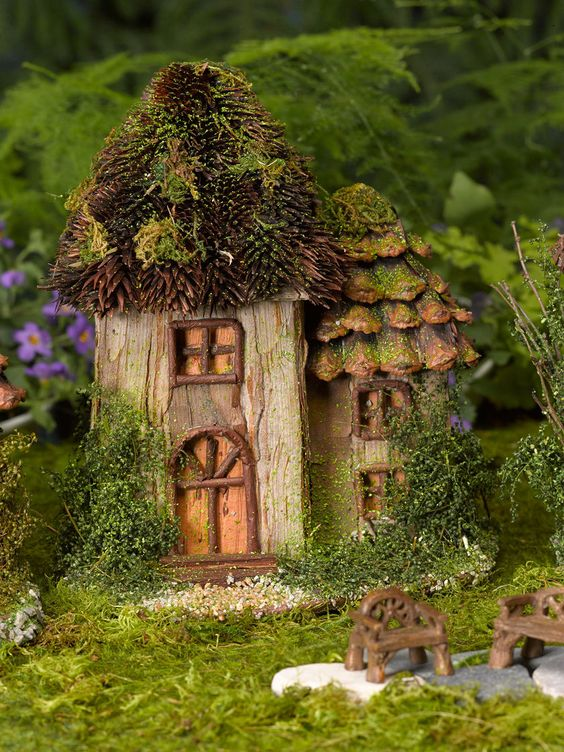 Fairy house fairy garden gardener 39 s supply garden diy craft ideas pinterest fairy - Houses made from natural materials ...