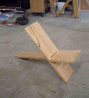 Simple DIY Two-Plank Chair Construction