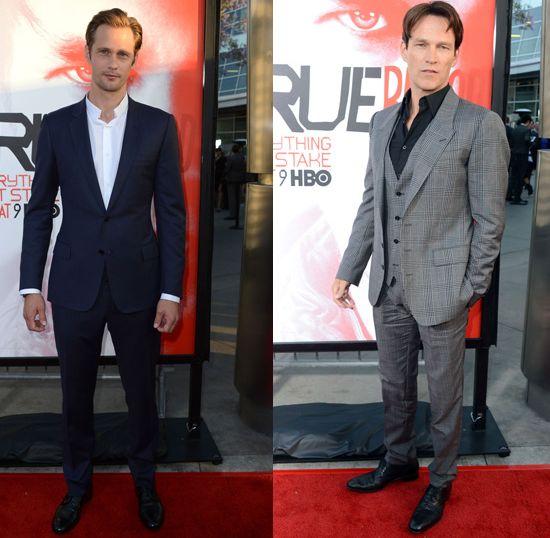 Alexander Skarsgard & Stephen Moyer looking dashing at the season premiere of True Blood.   #crush