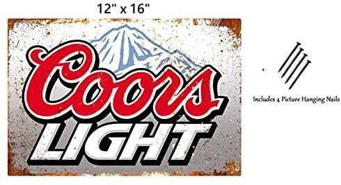 Uniq Designs Coors Light Beer Coorslight Sign Vintage Metal Beer Tin Signs Bar Signs Vintage Beer Wall Decor Alcohol S Beer Tin Sign Beer Wall Beer Decorations