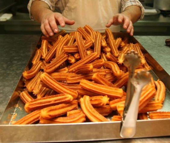 Spain's Quintessential Street Food, Churros - these alone con chocolate made me gain a bajillion lbs.
