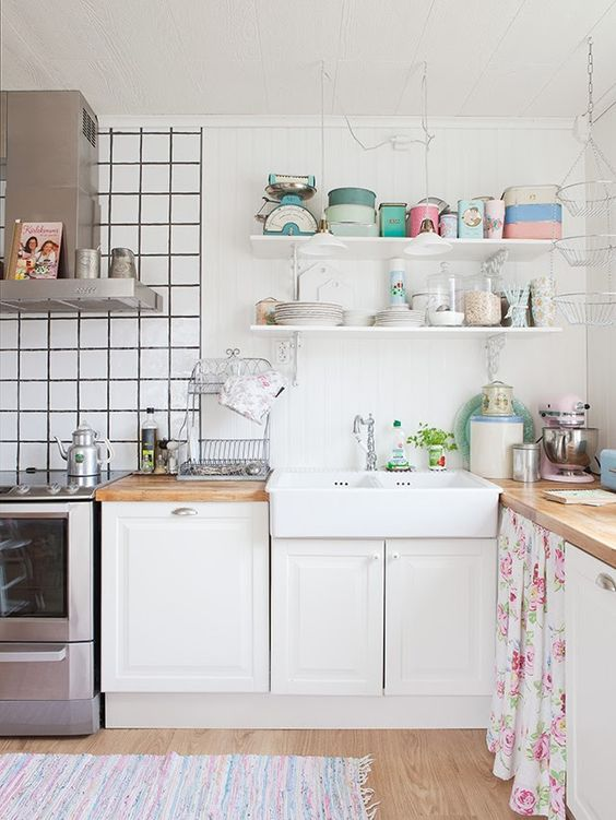 +kitchen+shelves Perfect Pastel Home  Kitchens  Pinterest  Pastel