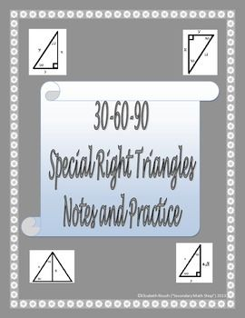 Worksheet 30-60-90 Triangle Worksheet special right triangle worksheets and triangles on pinterest 30 60 90 notes practice