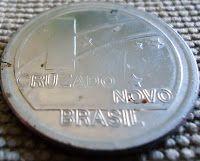 moedas brasileiras antigas - moeda comemorativa