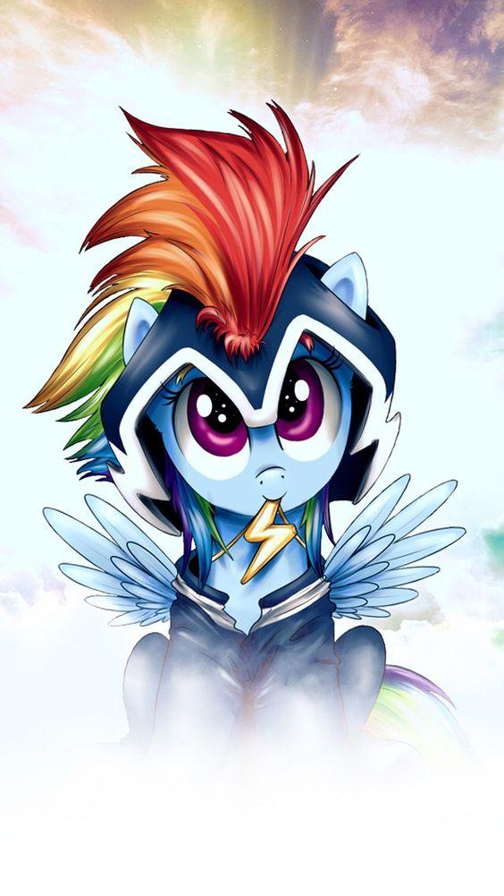 Rainbow dash power pony