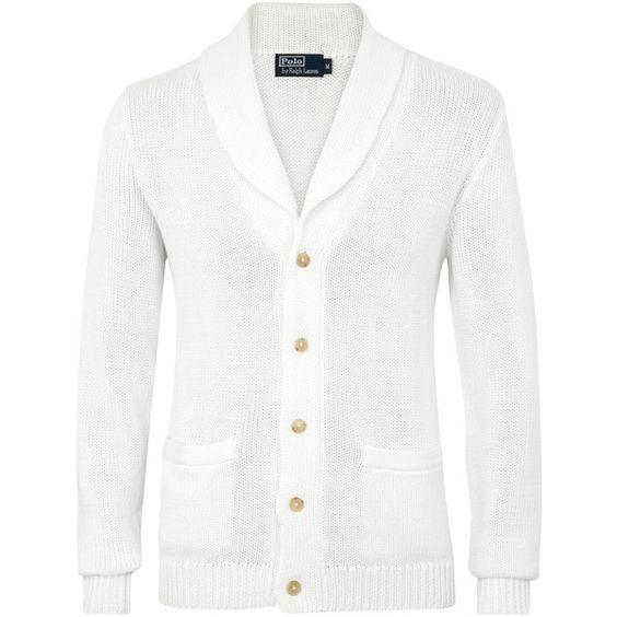 Polo Ralph Lauren Linen And Cotton Blend Cardigan ($405) via Polyvore