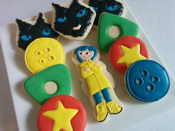 coraline cookies - Google Search