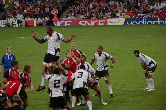 Fiji vs Canada RWC2007 lineout.