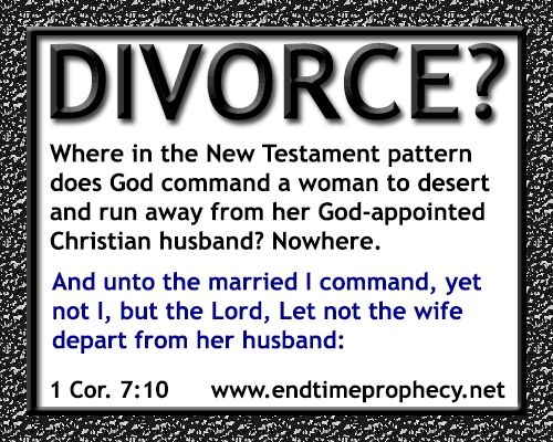 God and divorce and adultery