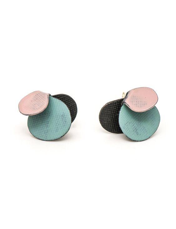Violet Stud Earrings – Pink & Blue