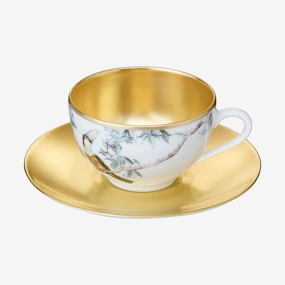Carnets d'Equateur tea cup and saucer   Hermes