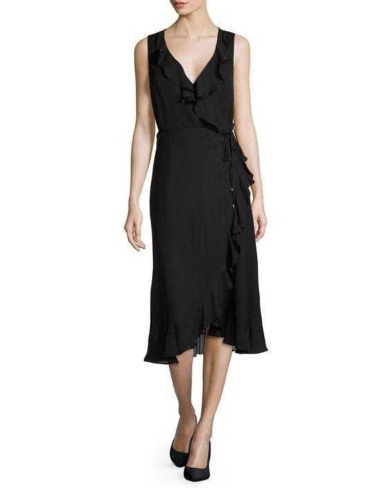 Lay Me Down High-Low Silk Dress, Women's, Size: XS, Black - Haute Hippie
