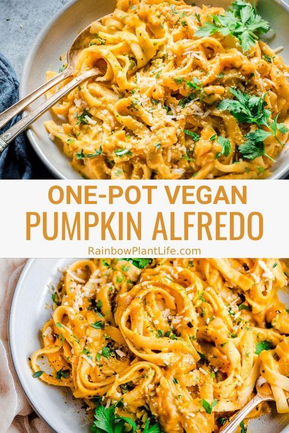 Vegan One-Pot Pumpkin Alfredo