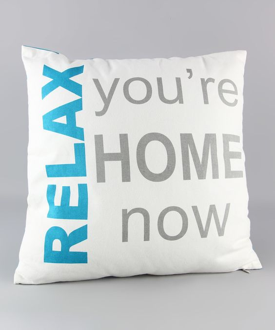 Look what I found on #zulily! 'Relax' Throw Pillow by Young's #zulilyfinds