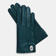 Turquoise leather gloves. | Click to shop this and other stocking stuffers....