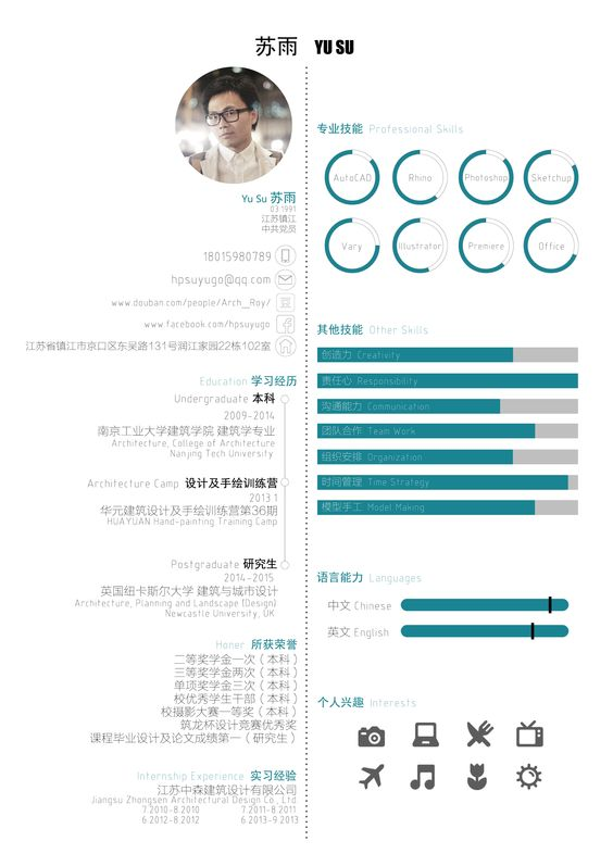 Architect Curriculum Vitae 2015 Chinese/English Version