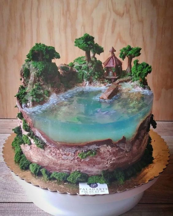 Bakers Are Topping Each Other By Creating Cakes That Look Like Paradise Islands (30 Pics)