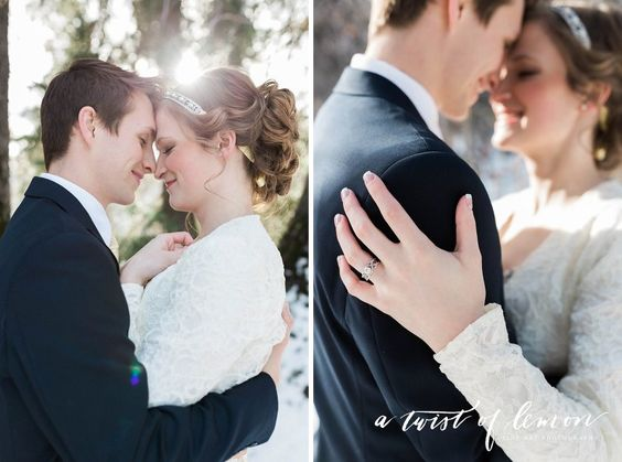 Rachel & Eric Snowy Mountain Bridals | A Twist of Lemon Photography