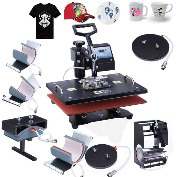 8 in one heat press machine