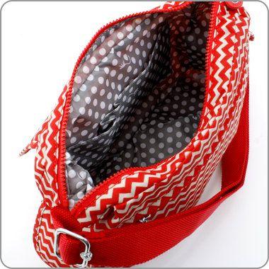 KIPLING TASCHEN : Schultertasche Priska N - Chevron Red Print