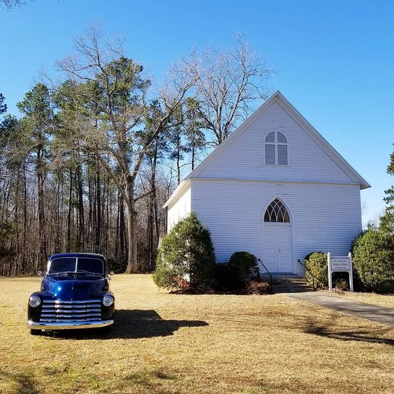 Old Country church. #church #countrychurch #countryside #highways #byways #countryroads #carolinablue #oldchevy #sundaydrive
