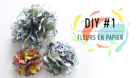 Découvrez les DIY Fleurs en papier de L'Éclat de Verre Encadreur. Cette semaine…