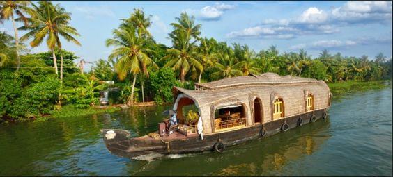 Kerala houseboat India