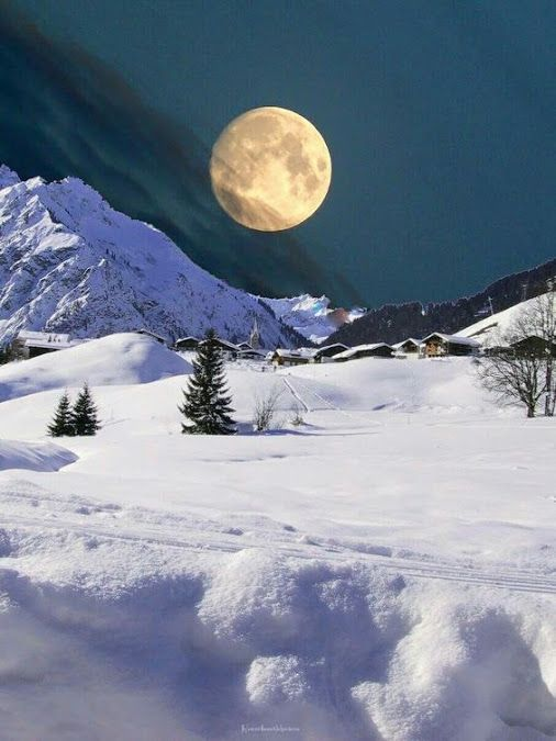 Night Relax With This Nature Photo Relax More With This Free Music With Binauralbeats That Can Heal You Winter Scenery Winter Landscape Winter Scenes