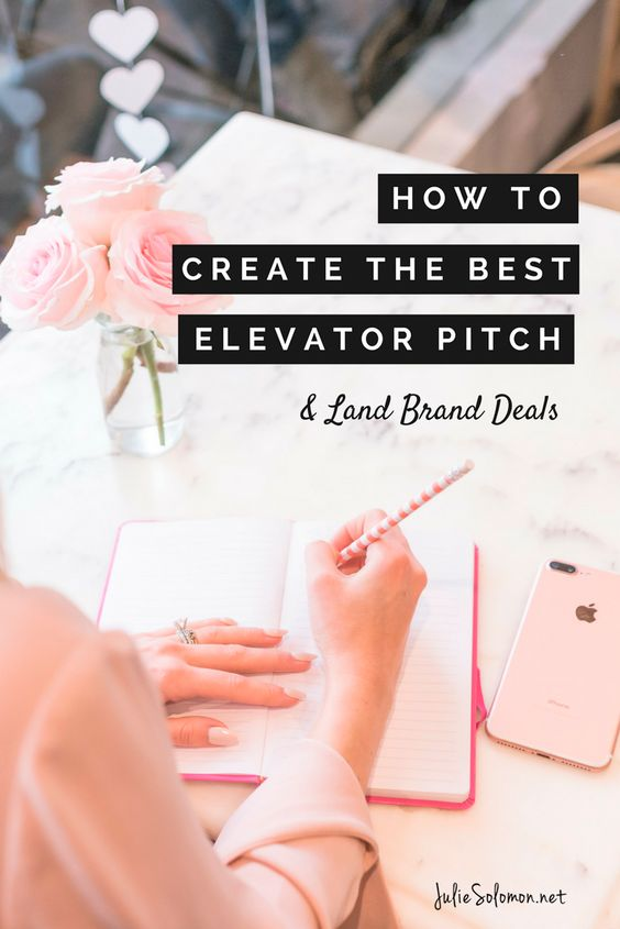Learn How To Write The Best Elevator Pitch and Bio to Land Brand Deals and Gain More Followers by Julie Solomon Publicist, Brand and Social Media Expert.