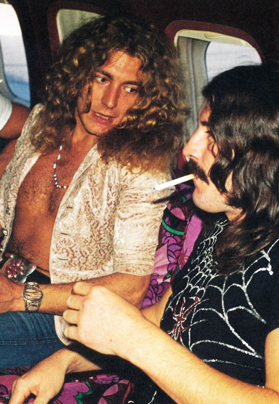 Robert Plant and John Bonham photographed inside the Starshipin Pennsylvania, USA, 1973.