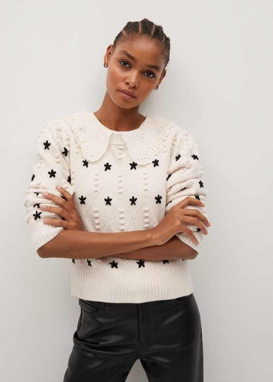 Camisola de malha de estrelas - Cardigãs e camisolas de Mulher | Mango Portugal