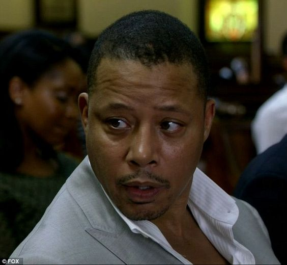 Surprise appearance: Lucious, played by Terrence Howard, fired back at Cookie in church