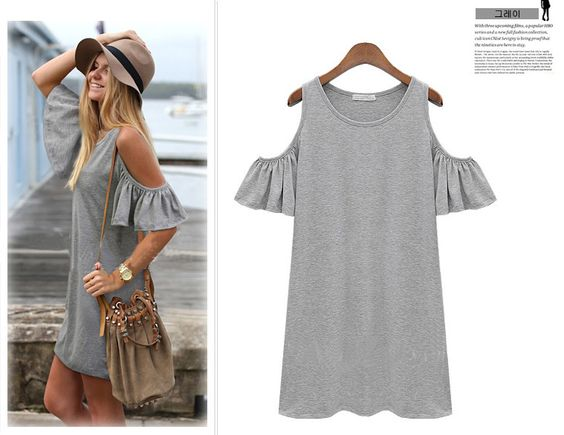 summer dress 2014 woman clothes butterfly sleeve cotton cute ...