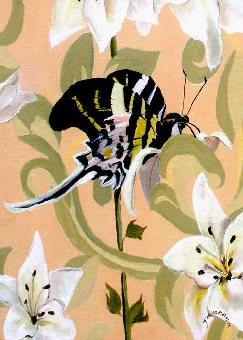 Eight Butterflies By Janeece Chesbrough  New England Artist