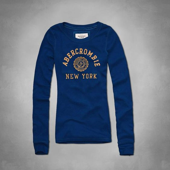 USD$22 Replica Abercrombie & Fitch A&F AF Fashion T Shirt Women Men Clothes Long Sleeve O-Neck Hoodie Badge Tshirt Tops Tees