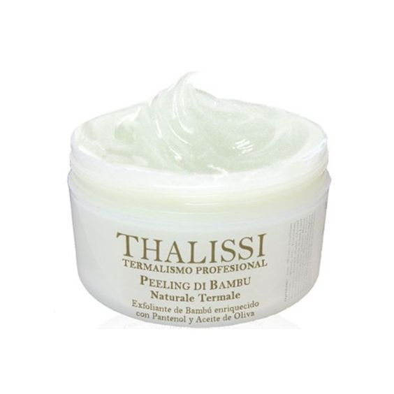 Bamboo exfoliant enriched with panthenol and olive oil
