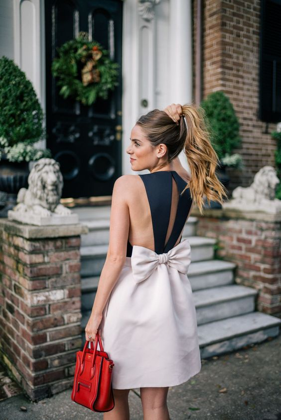 Gal Meets Glam Double Bows - Kate Spade New York dress & c/o Zappos Luxury