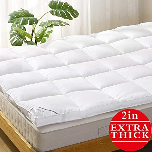 Mattress Topper Twin Pillowtop Bed Topper Cooling Mattress Pad With Anchor Bands Extra Thick 2 Quot In 2020 Cooling Mattress Pad Mattress Mattress Pad