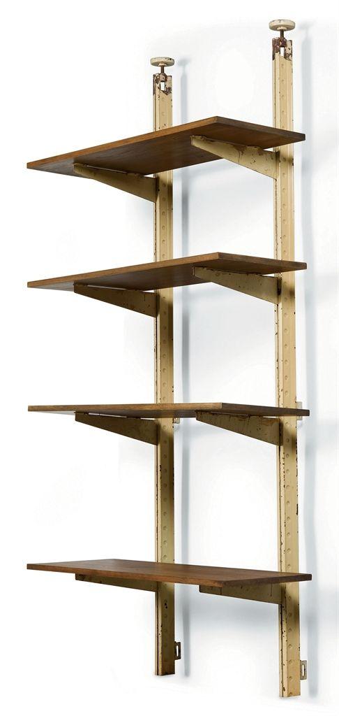 jean prouve 1901 1984 etagere metallique pour rayonnage. Black Bedroom Furniture Sets. Home Design Ideas