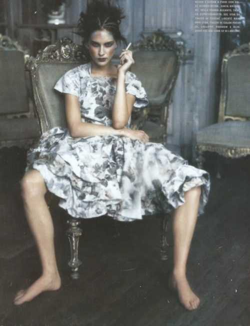 """Pale Shades"""". Erin Wasson photographed by Paolo Roversi for Vogue Italia, March 2002  3 MINUTES AGO"""