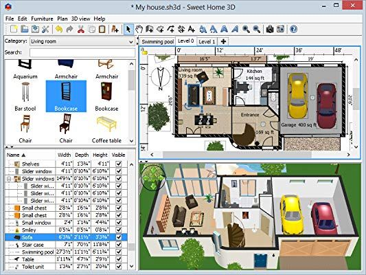 Amazon Com Sweet Home 3d Pc Download Software Free Interior Design Software Interior Design Software Free Interior Design