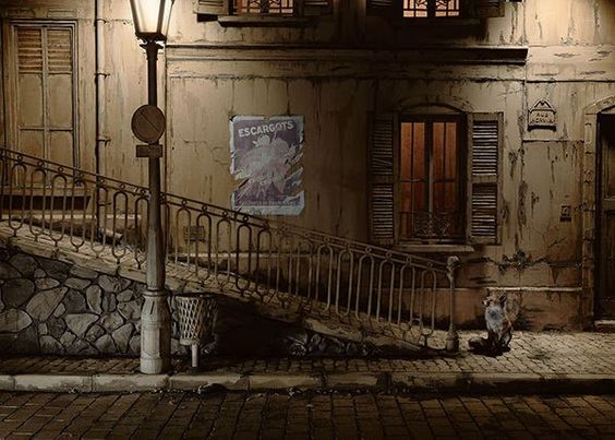 A Paris street made out of cardboard Found on Faith is Torment