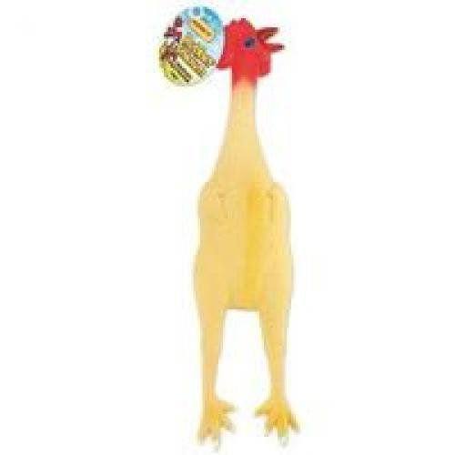 Screaming Rubber Chicken Rooster Squeaky Toy Children S Dog S