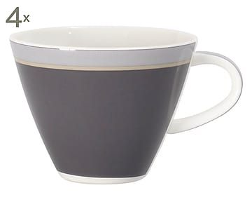 Fine China Kaffeetassen Caffé Club Uni, 4 Stück, 220 ml