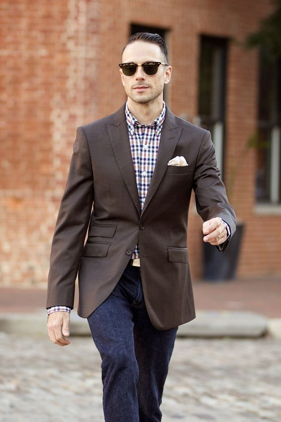 Brown Suit, Jacket Separate - He Spoke Style | S T Y L E
