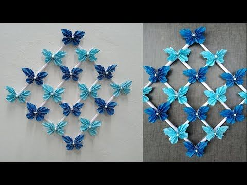 Paper Butterfly Wall Hanging Diy Easy Hanging Paper Butterfly
