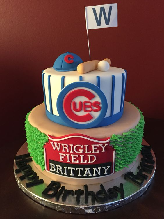 Chicago Cubs Birthday Cake                                                                                                                                                      More