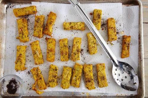 Chickpea Polenta Frites with Feta Recipe | Katy Sparks | Alta Editions