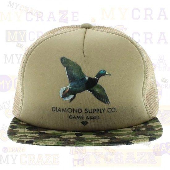 DIAMOND SUPPLY CO Game Assn Duck Camo Mesh Snapback Adjustable Trucker Cap Hat – MyCraze  #diamondsupplyco #baseballcap #streetwear