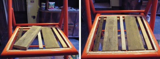 come rifare il fondo di una sedia con assi di legno - Cerca con Google